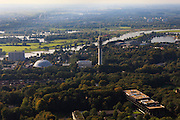 Nederland, Gelderland, Arnhem, 03-10-2010; koepel gevangenis en zendtoren.QQQ.luchtfoto (toeslag), aerial photo (additional fee required).foto/photo Siebe Swart