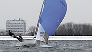 ENGLAND, London, Queen Mary Sailing Club, January 9th 2010, Bloody Mary Pursuit Race, 505 9012, Andy Smithy and Tim Needham (Staunton Harold SC). Winners