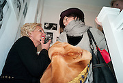 AMANDA ELIASCH; LUCY FERRY, The Way We Wore.- Photographs of parties in the 70's by Nick Ashley. Sladmore Contemporary. Bruton Place. London. 13 January 2010. *** Local Caption *** -DO NOT ARCHIVE-© Copyright Photograph by Dafydd Jones. 248 Clapham Rd. London SW9 0PZ. Tel 0207 820 0771. www.dafjones.com.<br /> AMANDA ELIASCH; LUCY FERRY, The Way We Wore.- Photographs of parties in the 70's by Nick Ashley. Sladmore Contemporary. Bruton Place. London. 13 January 2010.