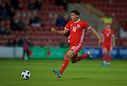 WREXHAM, WALES - Tuesday, September 10, 2019: Wales' Brennan Johnson during the UEFA Under-21 Championship Italy 2019 Qualifying Group 9 match between Wales and Germany at the Racecourse Ground. (Pic by David Rawcliffe/Propaganda)