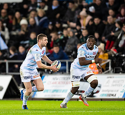 Finn Russell of Racing 92<br /> <br /> Photographer Simon King/Replay Images<br /> <br /> European Rugby Champions Cup Round 3 - Ospreys v Racing 92 - Saturday 7th December 2019 - Liberty Stadium - Swansea<br /> <br /> World Copyright © Replay Images . All rights reserved. info@replayimages.co.uk - http://replayimages.co.uk