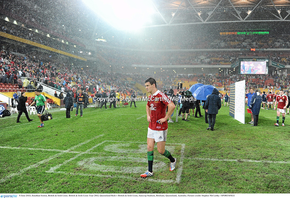 8 June 2013; Jonathan Sexton, British & Irish Lions. British & Irish Lions Tour 2013, Queensland Reds v British & Irish Lions, Suncorp Stadium, Brisbane, Queensland, Australia. Picture credit: Stephen McCarthy / SPORTSFILE