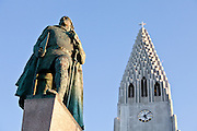 Leifur Eiriksson & Hallgrimskirkja, Reykjavík