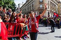 Osasuna's player Modesto Nino during the celebration for promotion to La Liga BBVA on the streets of Pamplona . 19,06,2016. (ALTERPHOTOS/Rodrigo Jimenez)