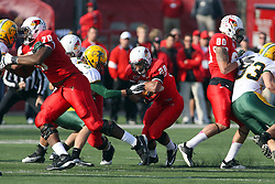 17 November 2012:  Cameron Hunt makes a run up the middle during an NCAA Missouri Valley Football Conference football game between the North Dakota State Bison and the Illinois State Redbirds at Hancock Stadium in Normal IL
