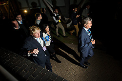 © London News Pictures. 07/05/2015. Mayor of London BORIS JOHNSON  at Uxbridge and Hillingdon election count  on the day that the UK goes to the polls in the 2015 general election. Photo credit: Ben Cawthra/LNP