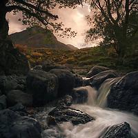 Eagle crag from Stonethwaite Beck, Cumbria