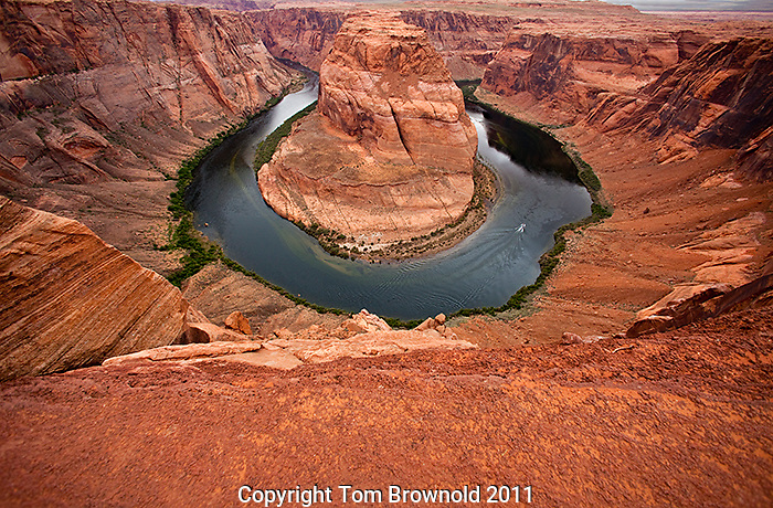 Horseshoe bend in the Colorado river in what is the remainder of Glen Canyon below the Dam.