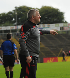 Mayo manager Stephen Rochford issues instructions from the sideline.<br />