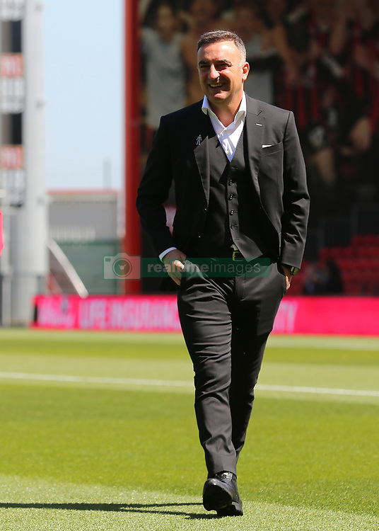Swansea City Manager Carlos Carvalhal inspects The Vitality Stadium before kick off