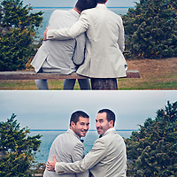 Christopher Ellis and Dylan Jacobs' wedding day October 5, 2013 at the Vineyard Haven Yacht Club, Martha's Vineyard, Ma.
