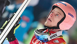 06.01.2016, Paul Ausserleitner Schanze, Bischofshofen, AUT, FIS Weltcup Ski Sprung, Vierschanzentournee, Bischofshofen, Finale, im Bild Dawid Kubacki (POL) // Dawid Kubacki of Poland reacts after his 1st round jump of the Four Hills Tournament of FIS Ski Jumping World Cup at the Paul Ausserleitner Schanze in Bischofshofen, Austria on 2016/01/06. EXPA Pictures © 2016, PhotoCredit: EXPA/ JFK