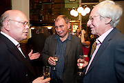 JULIAN FELLOWES; NICK COHEN; BARRY NORMAN, Drinks to celebrate the 60th anniversary of the Times Cheltenham Literature festival. Hosted by James Harding editor of the Times and the Directors of the Cheltenham Festival. The London Library. St. James's Sq. 23 September 2009.