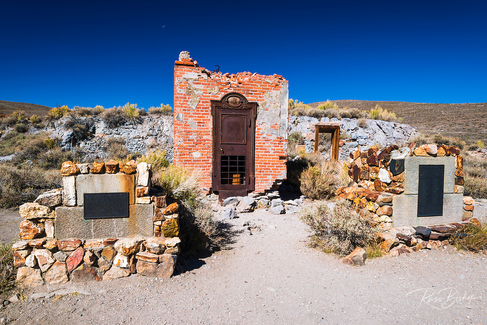 Vault at the Bodie Bank, Bodie State Historic Park, California USA