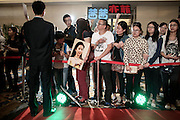 """Younge fans on the red Carpet for the Premiere of a big US/China coproduction movie, """"Outcast"""" feauturing Nicholas Cage, September 2014"""