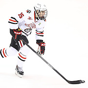 Kevin Roy #15 of the Northeastern Huskies on the ice during the game at Matthews Arena on February 22, 2014 in Boston, Massachusetts. (Photo by Elan Kawesch)
