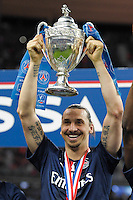 Joie PSG - Zlatan Ibrahimovic - 30.05.2015 - Auxerre / Paris Saint Germain - Finale Coupe de France<br />