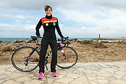 10.03.2016, Colonia di Sant Jordi, ESP, Deutsche Triathlon Nationalmannschaft, Trainingslager, im Bild Anja Knapp (GER) // during photocall at the training camp of German Triathlon National Team in Colonia di Sant Jordi, Spain on 2016/03/10. EXPA Pictures &copy; 2016, PhotoCredit: EXPA/ Eibner-Pressefoto/ Sch&uuml;ler<br /> <br /> *****ATTENTION - OUT of GER*****
