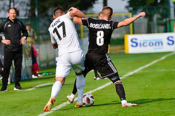 Luka Bobicanec of NS Mura vs Dominik Radic of NK Rudar Velenje during football match between NS Mura and NK Rudar Velenje in 13th Round of Prva liga Telekom Slovenije 2018/19, on October 20, 2018 in Mestni stadion Fazanerija, Murska Sobota , Slovenia. Photo by Mario Horvat / Sportida