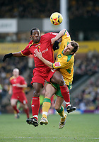Darren Huckerby and Lloyd Doyley.<br /> Norwich City v Watford, Cocal Cola Championship, 21/01/06. Photo by Barry Bland