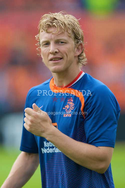 ROTTERDAM, THE NETHERLANDS - Sunday, June 1, 2008: The Netherlands' Dirk Kuyt before the international friendly match against Wales at the de Kuip Stadium. (Photo by David Rawcliffe/Propaganda)