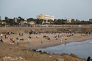 People training on the beach. Plage de Fann. Dakar the capital of Senegal...Picture by Zute Lightfoot .+44(0)75145390425
