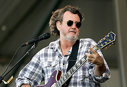 30 April 2015. New Orleans, Louisiana.<br /> The New Orleans Jazz and Heritage Festival. <br /> John Bell of Widespread Panic on the Acura stage.<br /> Photo; Charlie Varley/varleypix.com