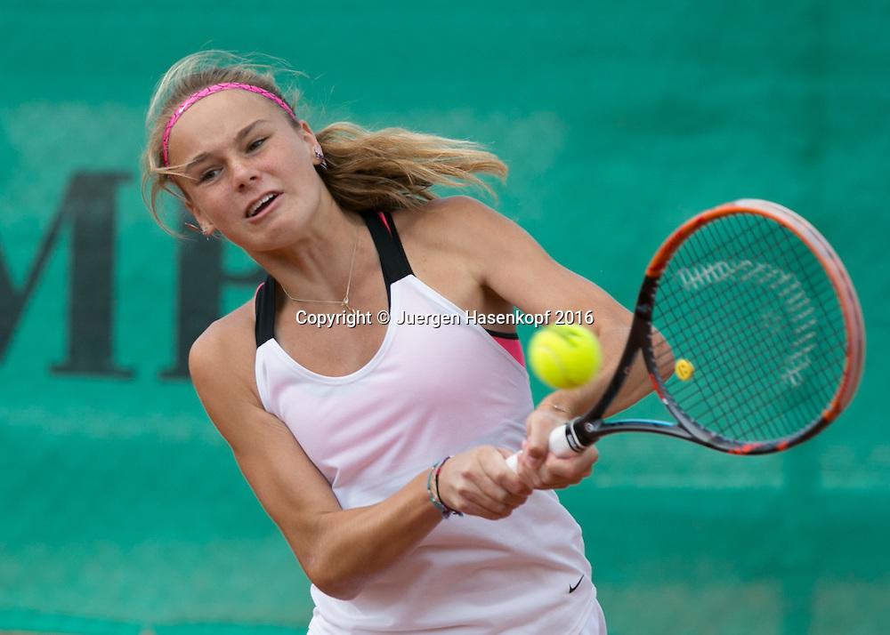 Tennis Europe-Bavarian Junior Open, Anja Wildgruber (GER) GS14<br /> <br /> Tennis - Bavarian Junior Open 2016 - Tennis Europe Junior Tour -  SC Eching - Eching - Bayern - Germany  - 11 August 2016. <br /> &copy; Juergen Hasenkopf