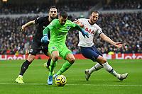 Football - 2019 / 2020 Premier League - Tottenham Hotspur vs. Brighton & Hove Albion<br /> <br /> Brighton & Hove Albion's Mat Ryan shields the ball from Tottenham Hotspur's Harry Kane, at The Tottenham Hotspur Stadium.<br /> <br /> COLORSPORT/ASHLEY WESTERN