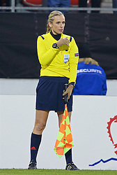 LIVERPOOL, ENGLAND - Thursday, December 10, 2015: Assistant referee Chrysoula Kourompylia during the UEFA Europa League Group Stage Group B match against Liverpool at Stade de Tourbillon. (Pic by David Rawcliffe/Propaganda)