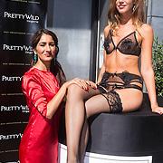 NLD/Amsterdam/20130905 - Lancering lingerielijn Pretty Wild, model met Firouze Akhbari