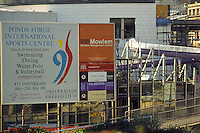 Construction of Ponds Forge Sorts Centre Sheffield 1991