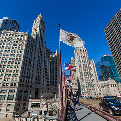 Wrigley Building, Chicago, IL. USA.