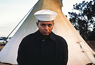 Navy sailor Rex Harvey, Peyote Ceremony, Tsaile, Arizona