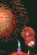 Fireworks, Statue of Liberty National Monument, New York City, New  York, New Jersey