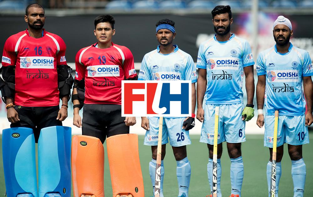 BREDA - Rabobank Hockey Champions Trophy<br /> India - Australia<br /> Photo: Indian line up.<br /> COPYRIGHT WORLDSPORTPICS FRANK UIJLENBROEK