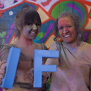 Hannah Howard and Lauren D'Mello. More than a hundred 16 - 25 yr olds joined a creative paint-fuelled event to express their support for the Enough Food IF campaign. While making the video was a fun and colourful process, the message remains a serious one: global hunger is outrageous and unacceptable.