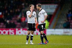 Luke Freeman and Wade Elliott of Bristol City look on - Photo mandatory by-line: Rogan Thomson/JMP - 07966 386802 - 17/01/2015 - SPORT - FOOTBALL - Scunthorpe, England - Glanford Park - Scunthorpe United v Bristol City - Sky Bet League 1.