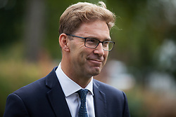 "London, UK. 25 September, 2019. Tobias Ellwood, Conservative MP for Bournemouth East, is interviewed on College Green on the day after the Supreme Court ruled that the Prime Minister's decision to suspend parliament was ""unlawful, void and of no effect"". Credit: Mark Kerrison/Alamy Live News"