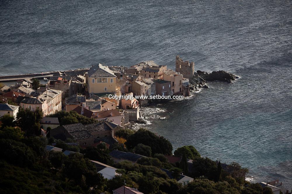 Corsica. France. Erbalunga fishermen port near Bastia, Cap Corse Corsica North, France /  Erbalunga , port de peche pres de Bastia, Cap Corse , Corse du Nord