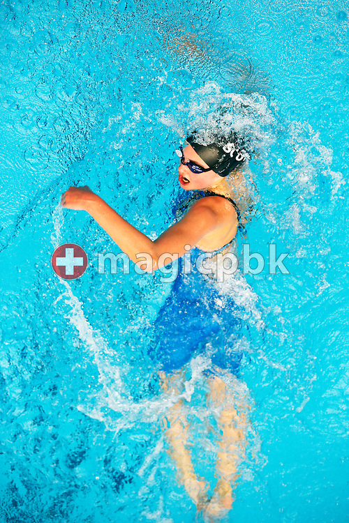 SCUW's Nadia EBERHART of Switzerland competes in the women's 800m Freestyle  during the Swiss Swimming Championships at the Piscine des Vernets in Geneva, Switzerland, Saturday, March 16, 2013. (Photo by Patrick B. Kraemer / MAGICPBK)