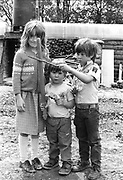 Musketeer kids, at Glastonbury, 1989.