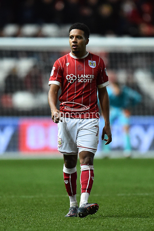 Korey Smith (7) of Bristol City during the EFL Sky Bet Championship match between Bristol City and Nottingham Forest at Ashton Gate, Bristol, England on 16 December 2017. Photo by Graham Hunt.