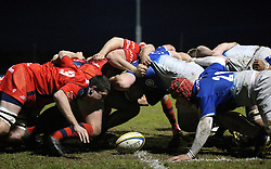Bristol United and Saracens Storm scrum - Mandatory by-line: Robbie Stephenson/JMP - 18/04/2016 - RUGBY - Clifton RFC - Bristol, England - Bristol United v Saracens Storm - Aviva A League