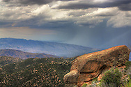 View of a storm moving in on Mt. Lemmon