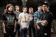 Portraits of metalcore band The Devil Wears Prada, photographed on March 15, 2010.