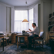 Sir Kingsley Amis at his home in Primrose Hill