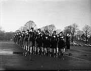 Passing Out Parade of new Gardai at Phoenix Park - 12 New Ban Gardai. 04/12/1959