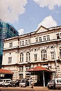 Faded era colonial buildings. Yangon, Myanmar.