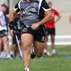 DURBAN, SOUTH AFRICA Monday 29th June 2015 -  Thomas du Toit during the Cell C Sharks Conditioning training session at Growthpoint Kings Par in Durban, South Africa. (Photo by Steve Haag)